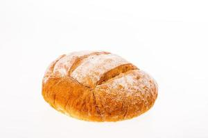 French bread on white background photo