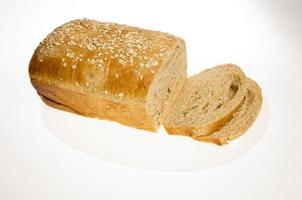 hogaza de pan integral de girasol foto