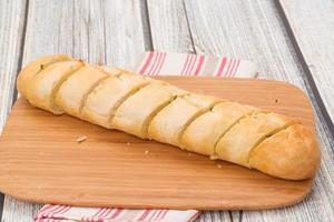 Garlic bread baguette photo