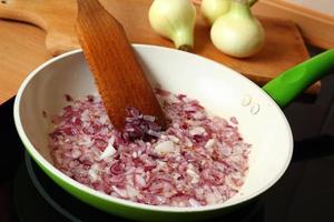Frying onion photo