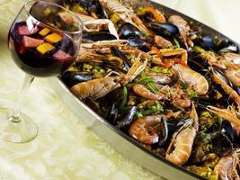 Paella Pan and sangria