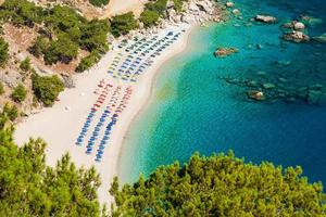 Beautiful Apella beach in Karpathos island. Greece.