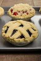 Baking homemade fresh fruit pies