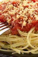 pasta spaghetti macaroni on white photo