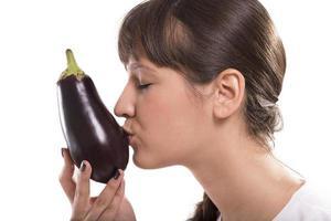 Eggplant kiss photo