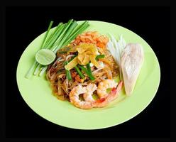 Stir fried noodle with shrimps amed Pad Thai