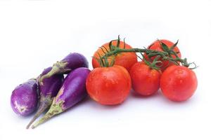 Eggplant and Tomato photo