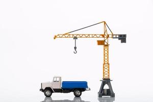 toy crane and car