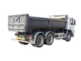 European dump truck three-quarter view photo