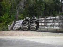 Tanker Trailer Rolled Over photo
