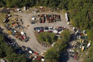 Junk Yard Aerial View