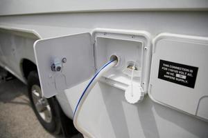 tanque de água em um veículo de quarto