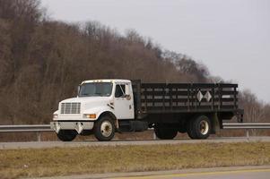 camión de plataforma foto