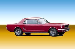 coche deportivo clásico rojo