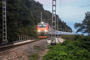 Night train photo