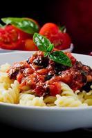 pasta con salsa de tomate foto