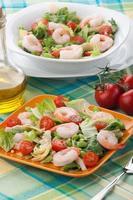 ensalada italiana de camarones
