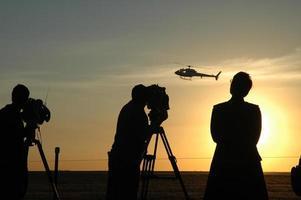 Airshow silhouette photo