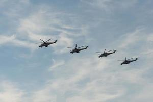 Group of helicopters mi-35