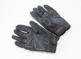 Black Motorcycle gloves isolated on white background