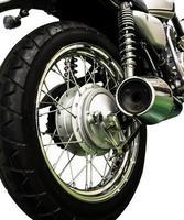 vintage Motorcycle isolated background photo