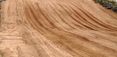 pistas de neumáticos de la motocicleta foto