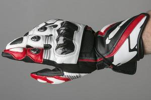 guante moderno moto sport foto