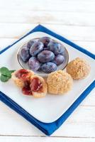 Dumplings with plums photo