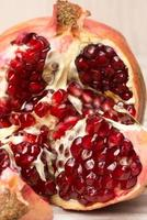 pomegranate fruits and grains photo