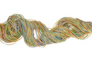cables de red de telecomunicaciones foto