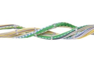 Telecommunication network cables photo