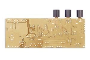 circuit board isolated on a white background