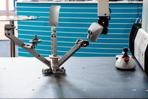 Modern industrial robot photo