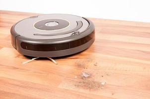 robot de limpieza de suciedad foto