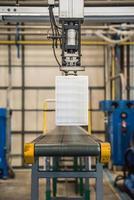 Industrial robot working in factory