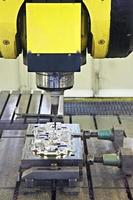 CNC milling cutter in action photo