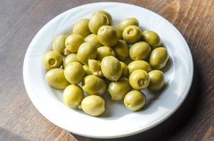 Bowl of olives photo
