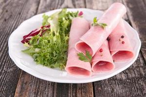 fresh lettuce and ham photo