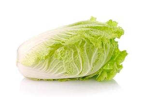 Lettuce heart on a white background photo
