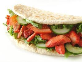 Chicken Donner naan bread sandwich