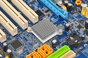 Computer motherboard, DOF photo