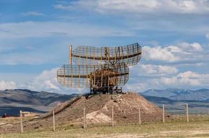 military radar mountain steppe
