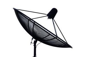 Satellite antenna on white background