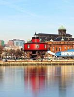 The Seven Foot Knoll Lighthouse in Baltimore Inner Harbor.