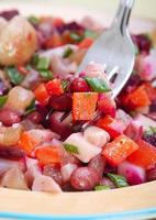 Salad with bolied vegetable photo