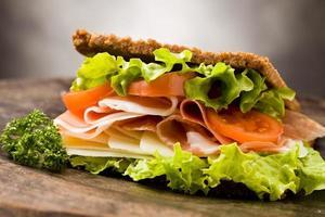 sanduíche com bacon