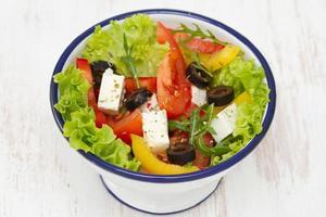 salad in white bowl photo