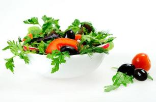 Bowl with salad photo