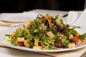 Gourmet Appetizing Main Dish on White Plate photo