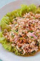 spicy fish salad photo